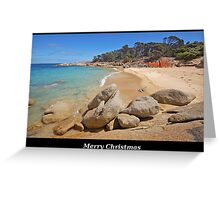Red rocks and emerald water Greeting Card