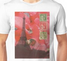 Eiffel Tower and Red Cyclamen Unisex T-Shirt