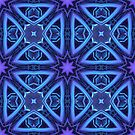 Blue/Purple 3-D Pattern by Lyle Hatch