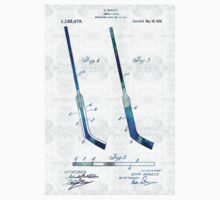 Blue Hockey Stick Art Patent - Sharon Cummings Kids Clothes