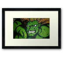 Blanka! Street Fighter Legend! Framed Print