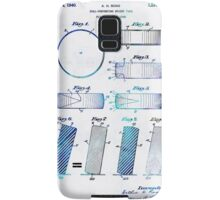 Blue Hockey Art - Hockey Puck Patent - Sharon Cummings Samsung Galaxy Case/Skin
