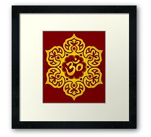 Yellow Lotus Flower Yoga Om Framed Print