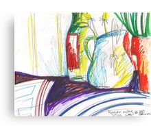 GREEN ONIONS STILL LIVE(C2013) Canvas Print