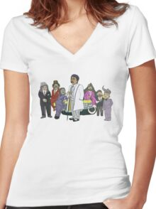 Morris Day and the Time Bandits Women's Fitted V-Neck T-Shirt