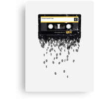 THE DEATH OF THE CASSETTE TAPE - GRUNGE TEXTURE Canvas Print