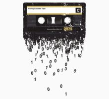 THE DEATH OF THE CASSETTE TAPE - GRUNGE TEXTURE Kids Tee