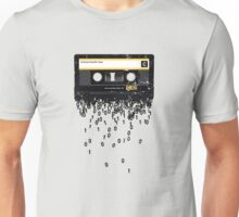 THE DEATH OF THE CASSETTE TAPE - GRUNGE TEXTURE Unisex T-Shirt