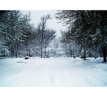 Winter in the Suburbs Photographic Print