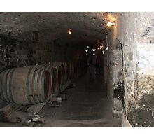 Cellar under winery Photographic Print