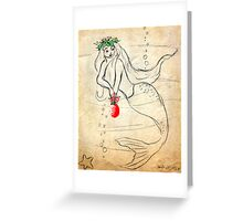 Christmas Mermaid   Retro 1950's    212  Views Greeting Card