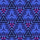 Blue/Fuchsia 3-D Pattern by Lyle Hatch