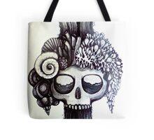 dark ocean skull art Tote Bag