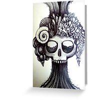 dark ocean skull art Greeting Card