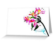 A Twist Of Pink Greeting Card