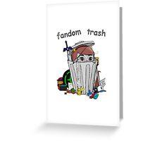 Fandom Trash Logo Greeting Card