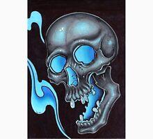 blue skull waves Unisex T-Shirt