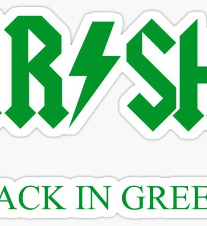 IRISH - BACK IN GREEN Sticker