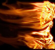 Girl on fire 1 by Tony Brown