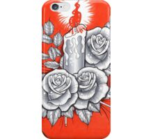 candle and roses iPhone Case/Skin