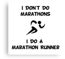 Do Marathon Runner Canvas Print