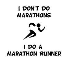 Do Marathon Runner Photographic Print