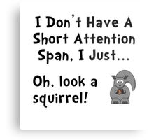 Short Attention Metal Print
