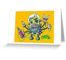 Graffiti robot Greeting Card