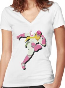 Fabulous Captain Falcon Women's Fitted V-Neck T-Shirt