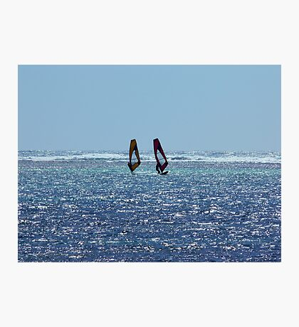 Wind Surfers Photographic Print