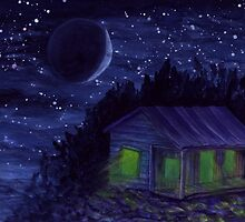 Star Shack - watercolor painting by M Rogers