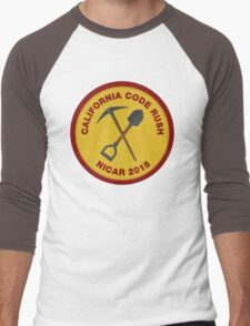 California Code Rush: NICAR 2015 Men's Baseball ¾ T-Shirt