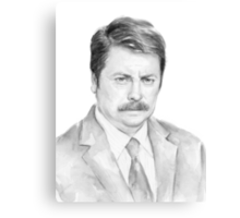 The Swanson Watercolor (BW) Canvas Print