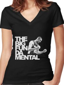 The Big Fun DA Mental Women's Fitted V-Neck T-Shirt