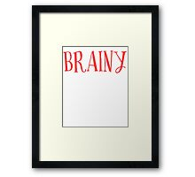New Sexy Brainy T-shirt Framed Print