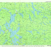 Maine USGS Historical Map Moosehead Lake 808102 1985 100000 by wetdryvac