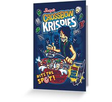 Crossbow Krispies Greeting Card