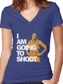 I am going to Shoot Women's Fitted V-Neck T-Shirt
