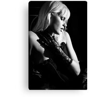 Joy in Corset BW Canvas Print