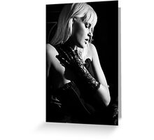 Joy in Corset BW Greeting Card