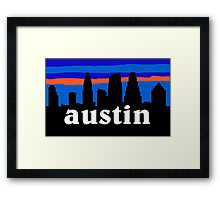 Austin Texas, Skyline silhouette Framed Print