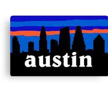 Austin Texas, Skyline silhouette Canvas Print