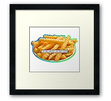 Sassy A$$ Fries Framed Print