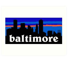 Baltimore, skyline silhouette Art Print