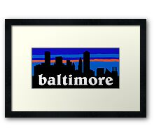 Baltimore, skyline silhouette Framed Print
