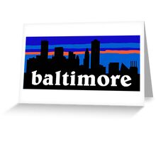 Baltimore, skyline silhouette Greeting Card