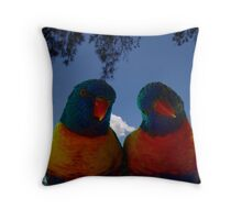 Lorrie and Lorraine Throw Pillow