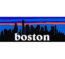 Boston, skyline silhouette Photographic Print