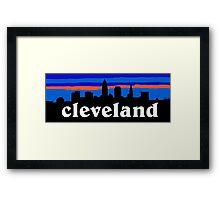 Cleveland, skyline silhouette. Framed Print
