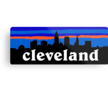 Cleveland, skyline silhouette. Metal Print